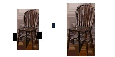 アンティーク家具修理 チェアのグラ直し(締め直し)