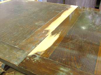 ドローリーフテーブルの修理工程