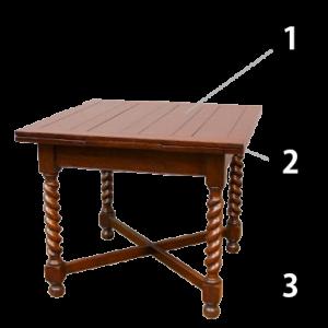 ケントストア・アンティーク家具のドローリーフテーブル