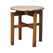 天板が銅板のパブテーブル