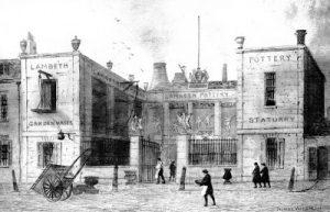 1840年ロイヤルドルトンの工場